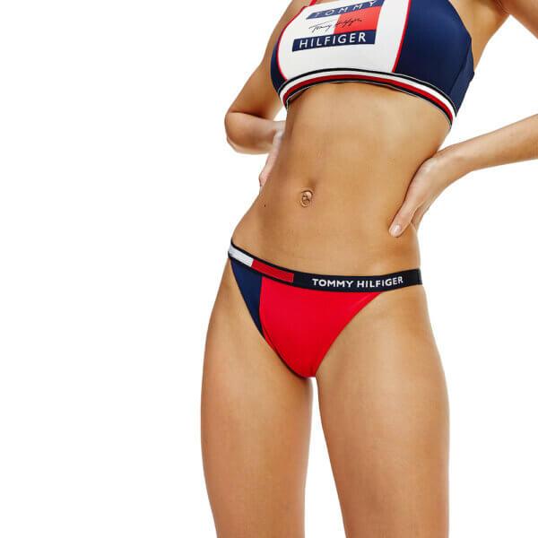Tommy Hilfiger plavky dámske Color-Blocked Bikini CUN modré červené_01
