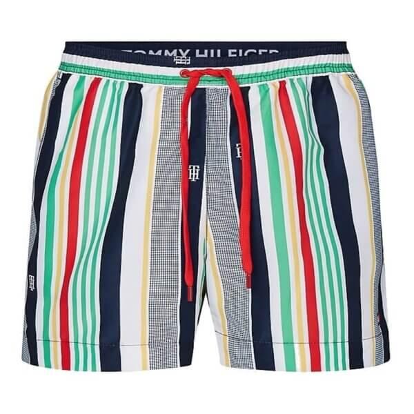 Tommy Hilfiger plavky pánske šortky kúpacie Stripe Swim Shorts 0G0