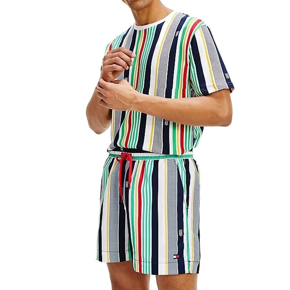 Tommy Hilfiger plavky pánske šortky kúpacie Stripe Swim Shorts 0G0_01