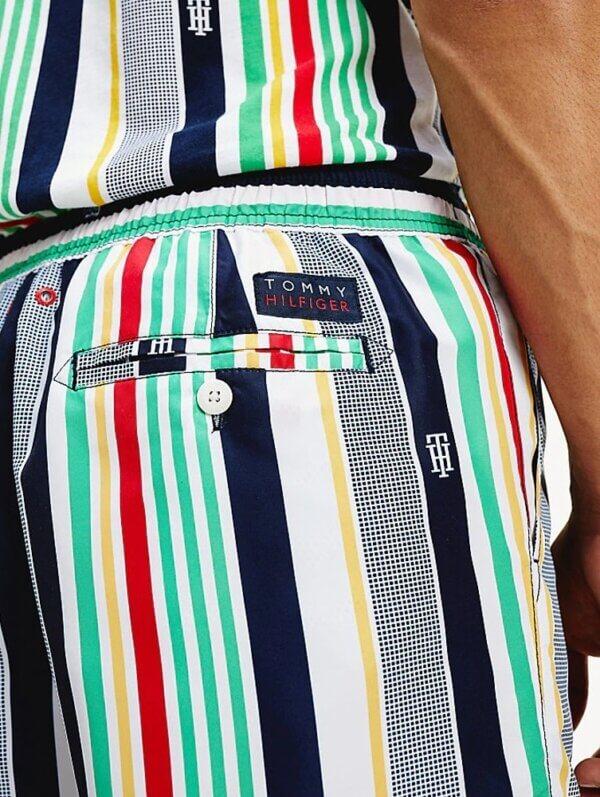 Tommy Hilfiger plavky pánske šortky kúpacie Stripe Swim Shorts 0G0 multi_02a
