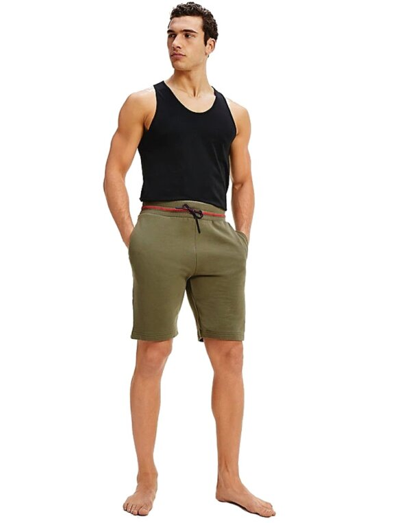 Tommy Hilfiger šortky pánske Drawstring Shorts LFH olivov_01