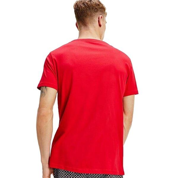 Tommy Hilfiger tričko pánske Crew Neck Logo T-Shirt 611 červené_03