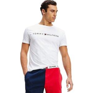 Tommy Hilfiger tričko pánske Crew Neck Logo T-Shirt YCD biele