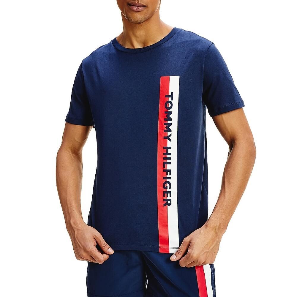 Tommy Hilfiger tričko pánske Crew Neck Logo Tee CUN modré