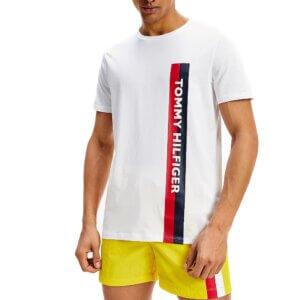 Tommy Hilfiger tričko pánske Crew Neck Logo Tee YCD biele