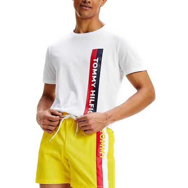 Tommy Hilfiger tričko pánske Crew Neck Logo Tee YCD biele_01a