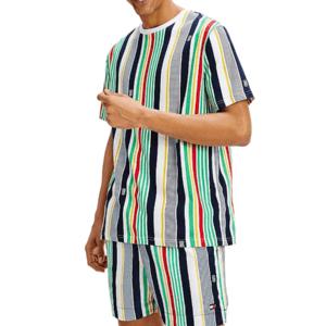 Tommy Hilfiger tričko pánske Drop Shoulder Stripe Tee 0G0 multi