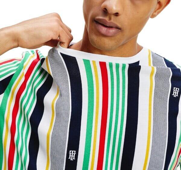 Tommy Hilfiger tričko pánske Drop Shoulder Stripe Tee 0G0 multi_01