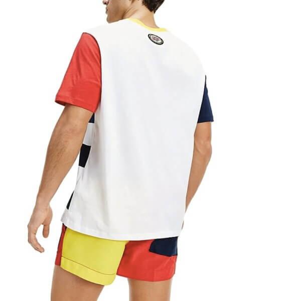 Tommy Hilfiger tričko pánske Drop Shoulder Tee CUN modré biele červené_02