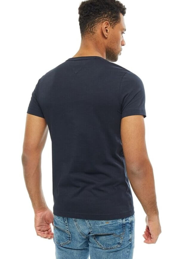 Tommy Hilfiger tričko pánske Flag Logo T-Shirt tmavé modré 403_03