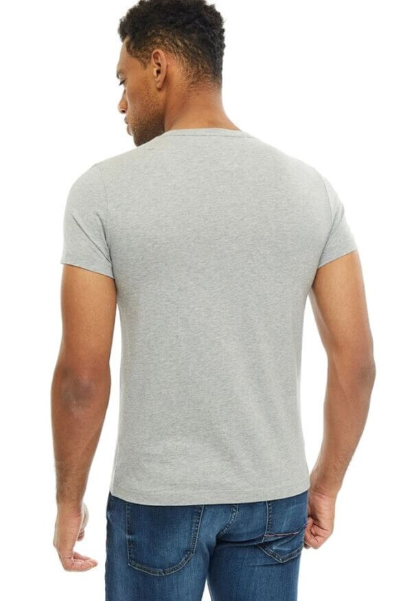 Tommy Hilfiger tričko pánske Flag Logo T-Shirt tmavé šedé 501