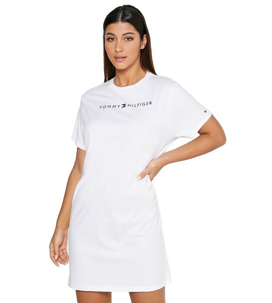 Tommy Hilfiger šaty RN Dress Half Sleeve YCD biele