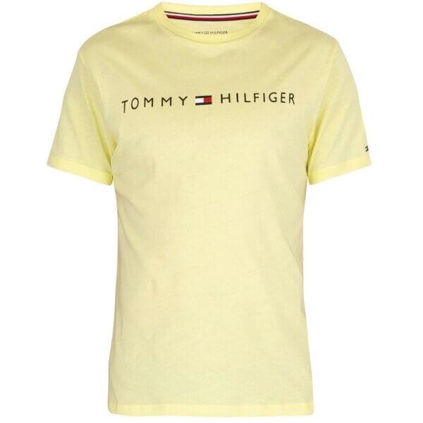 Tommy Hilfiger tričko pánske Crew Neck Logo T-Shirt ZA6 žlté