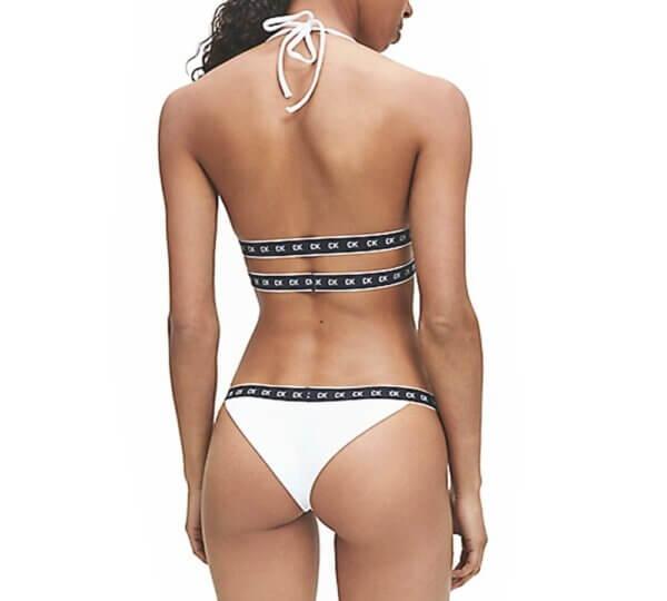 Calvin Klein plavky High Apex Triangle RP YCD biele