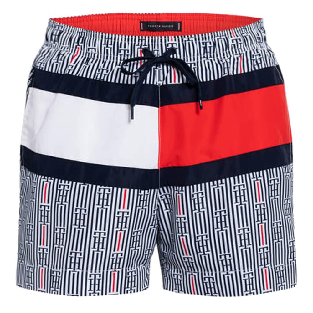 Tommy Hilfiger plavky pánske Logo Swim Shorts Print 0K7 Monogram