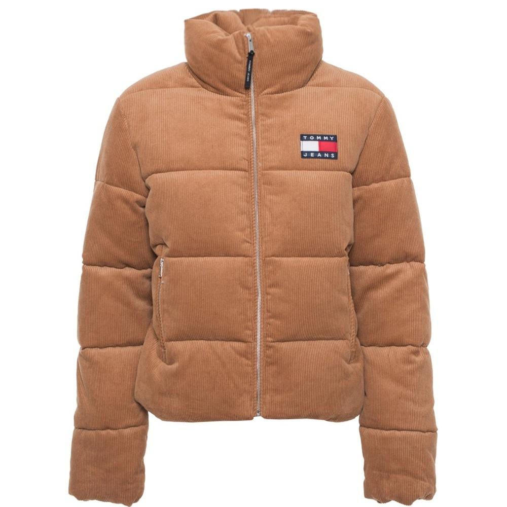 Tommy Hilfiger Jeans bunda dámska ziimná vetrovka Cord Puffa Padded Jacket
