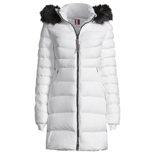 Tommy Hilfiger kabát dámsky páperový bunda Pamela Stretch Coat biela 01