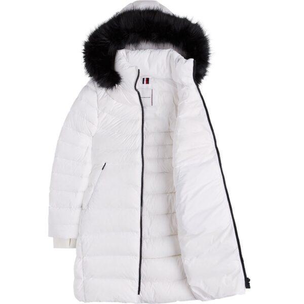 Tommy Hilfiger kabát dámsky páperový bunda Pamela Stretch Coat biela 02