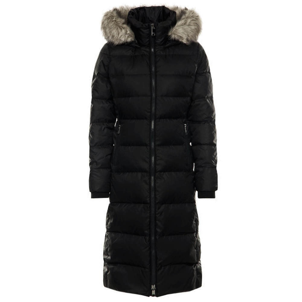 Tommy Hilfiger dámsky kabát páperový prešívaný Maxi Coat čierny