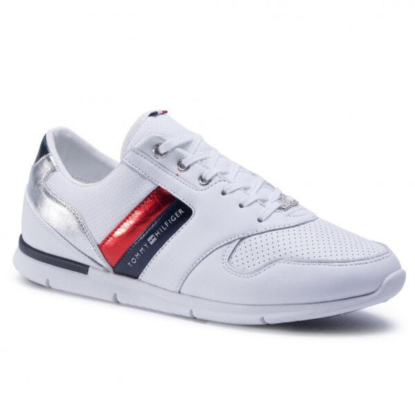 Tommy Hilfiger obuv dámska sneakersy Light Weight Leather biele