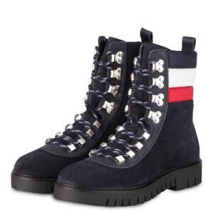 Tommy Jeans obuv členková dámska Padded Nylon Lace Up Boot modrá