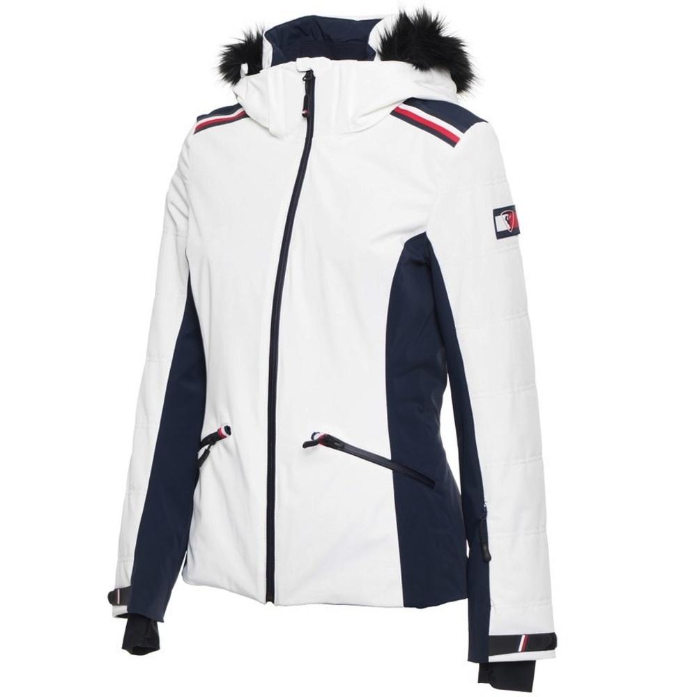 Tommy Hilfiger bunda dámska lyžiarska x Rossignol s kožušinou biela