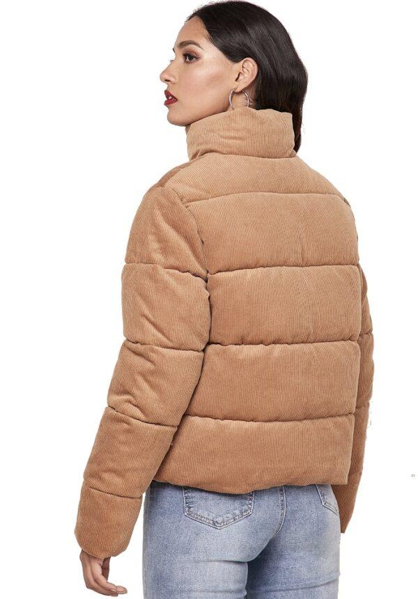 Tommy Hilfiger Jeans bunda dámska ziimná vetrovka Cord Puffa Padded Jacket ťavia 02