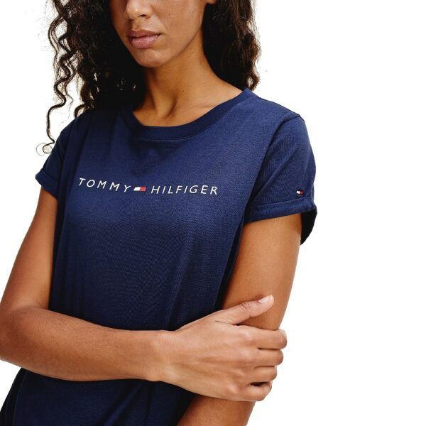 Tommy Hilfiger tričko dámske Original CN SS Tee Logo 416 modré 01