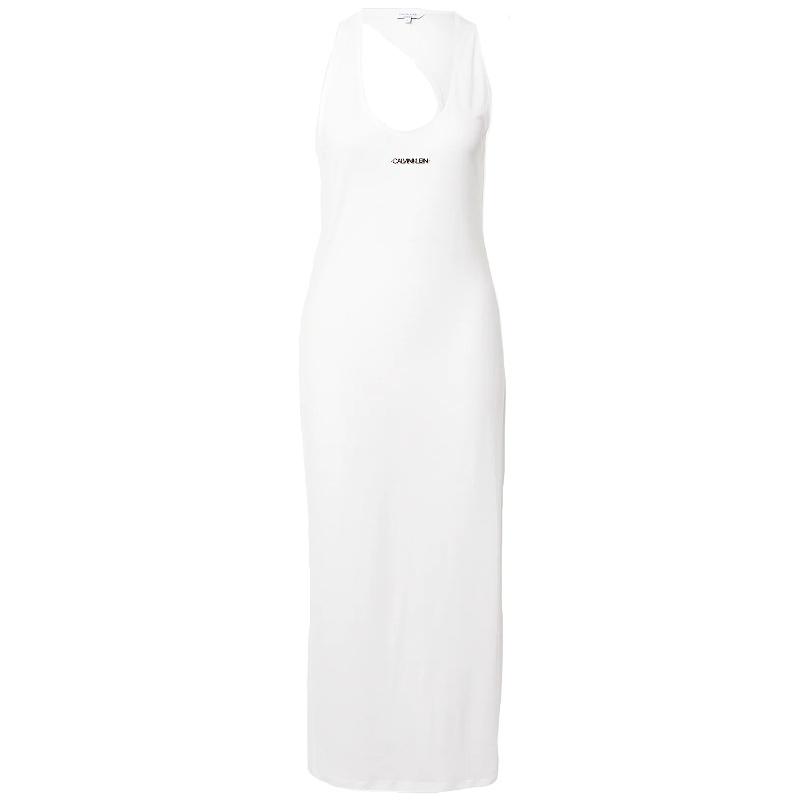 Calvin Klein šaty plážové dámske Beach Dress biele YCD