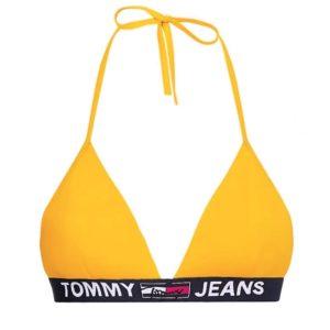 Tommy Jeans plavky dámske podprsenka Fixed Triangle ZER žlté